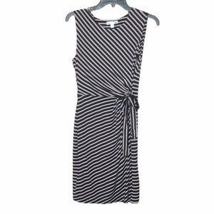 NWOT stitch Fix Nine Britton stripe side tie dress